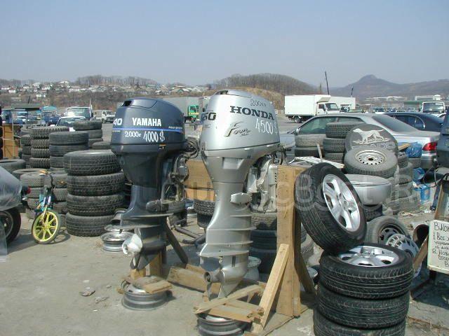 мотор подвесной HONDA 2001 года