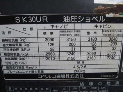 Экскаватор мини KOBELCO SK30 2000 года в Находке