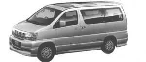 Nissan Elgrand HOMY HIGHWAY STAR (2WD 3.2 TURBO DIESEL) 1998 г.