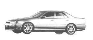 Nissan Skyline 4DOOR 25GT-X TURBO 1998 г.