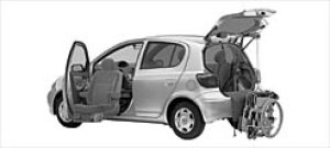 Toyota Vitz Welcab Passenger Seat Lift-up Car,B type 2003 г.