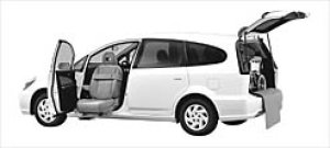 Honda Stream ALMAS,Lift-upPass.SeatVersion S(1.7L) FF 2003 г.