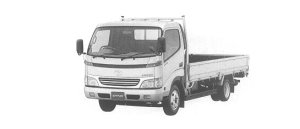 Toyota Dyna CARGO WIDE CAB LONG DECK JAST LOW FOR 2t 2000 г.