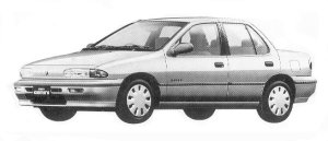 Isuzu Gemini SEDAN 1500 GASOLINE C/C-X 1992 г.
