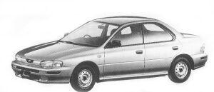 Subaru Impreza HARD TOP SEDAN 1.5L CF 1992 г.