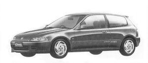 Honda Civic 3DOOR SIR-II 1992 г.