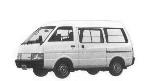 Nissan Vanette VAN 2WD HIGH ROOF 4DOOR 1500DX 1992 г.