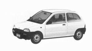 Subaru Vivio 3DOOR E 5MT 1992 г.