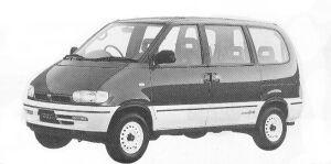 Nissan Vanette SERENA 4WD RV DIESEL TURBO 2000 1992 г.