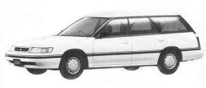 Subaru Legacy 4WD TOURING WAGON 1.8L MI 1992 г.