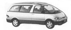 Toyota Estima Emina G LUXURY FULL TIME 4WD 2200 DIESEL TURBO 1992 г.