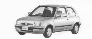 Nissan March 3DOOR HATCH BACK A# 1992 г.