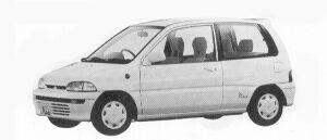 Mitsubishi Minica 3DOOR PIACE L 1992 г.