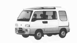 Subaru Sambar 4WD DIAS SUN SUN ROOF EL+5MT 1992 г.