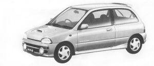 Subaru Vivio 3DOOR SEDAN GX ECVT 1992 г.