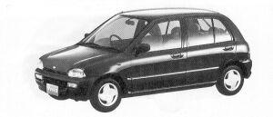 Subaru Vivio 5DOOR SEDAN ES ECVT 1992 г.