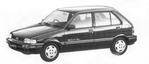 Subaru Justy 5DOOR MYME MF ECVT 1992 г.