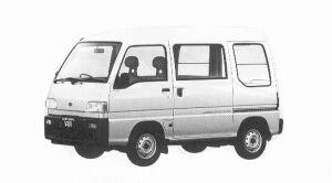 Subaru Sambar VAN 4WD HIGH ROOF SDX CHARGER ECVT 1992 г.