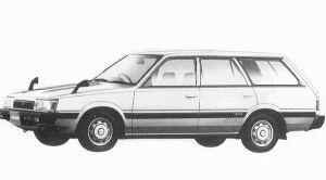 Subaru Leone 4WD ESTETO VAN 1.6L LC 1992 г.