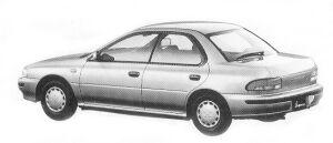 Subaru Impreza 4WD HARD TOP SEDAN 1.6L CS 1992 г.