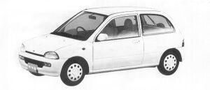 Subaru Vivio 3DOOR SEDAN EM ECVT 1992 г.