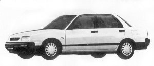 Daihatsu Applause 16ZI FULL TIME 4WD 1992 г.