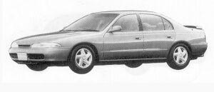 Mitsubishi Eterna V6 2.0 DOHC 24V TWIN TURBO XX-4 1992 г.