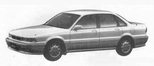 Mitsubishi Eterna SAVA 2.0DOHC LX 1990 г.