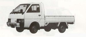 Nissan Vanette Truck SUPER LOW 1500DX 1990 г.
