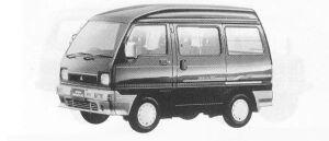 Mitsubishi Minicab BRAVO AX HIGH ROOF 1990 г.