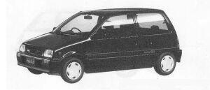 Daihatsu Mira 3DOOR J-TYPE P 1990 г.