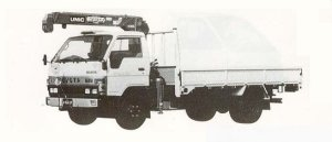 Toyota Toyoace CRANE TRUCK 3.5T 1990 г.
