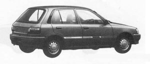 Toyota Starlet SOLEIL L 1990 г.