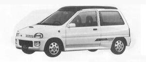 Subaru REX 3DOOR SEDAN VX OPEN TOP ECVT 1990 г.