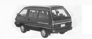 Toyota Townace WAGON 2WD SUPER EXTRA 1800TWIN MOON ROOF 1990 г.