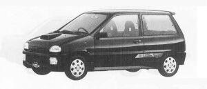 Subaru REX 4WD 3DOOR SEDAN VX ECVT 1990 г.
