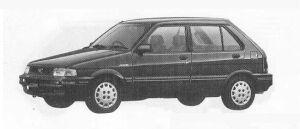 Subaru Justy FF 5DOOR MYME 1990 г.