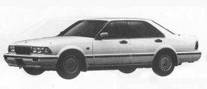 Nissan Gloria 4DOOR V30 VIP TURBO MULTI SYSTEM 1990 г.