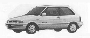 Subaru Justy 4WD 3DOOR MYME 1990 г.