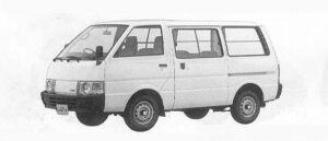 Nissan Vanette VAN 2WD 4DOOR 1500 DX 1990 г.