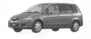 Mazda Premacy G-f 5-seaters, 1800 DOHC FF 2004 г.