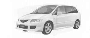 Mazda Premacy SPORT-f 7-seaters, 1800 DOHC FF 2004 г.