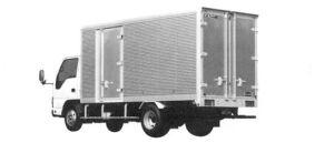 Isuzu Elf Smoother-E, Dry Van, Aluminum Colgate Outside Panel 2004 г.