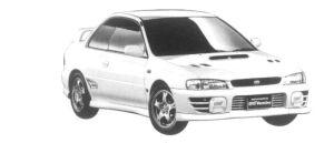 Subaru Impreza PURE SPORTS COUPE WRX TYPE R STi Ver.IV 1997 г.
