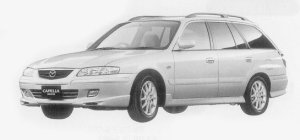 Mazda Capella Wagon V-RX 1999 г.