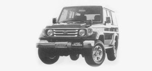 Toyota Land Cruiser 70 VAN 4DOOR ZX 1999 г.