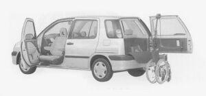 Toyota Raum WELCAB SWIVEL PASSENGER SEAT SPEC.B TYPE 1999 г.
