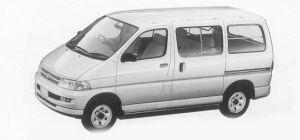 Toyota Regius VAN 4WD G, 2/5-SEATER 4DOOR 3.0 DIESEL 1999 г.