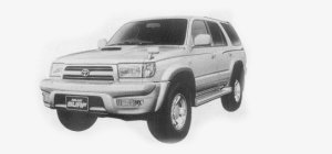 Toyota Hilux Surf 4WD 3.0 DIESEL TURBO INTERCOOLER, SSR-G 1999 г.