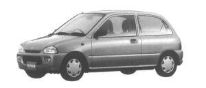 Subaru Vivio 3 door Sedan  el-S 1995 г.